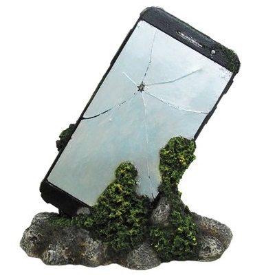 Knust mobiltelefon